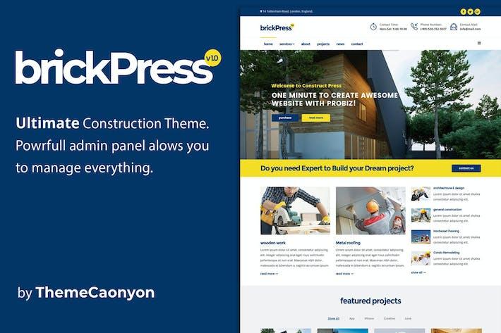 Thumbnail for BrickPress - Construction & Bâtiment HTML5 Templat