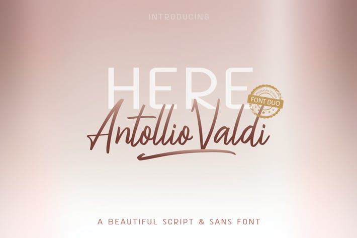 Thumbnail for Here Antollio Valdi Font Duo
