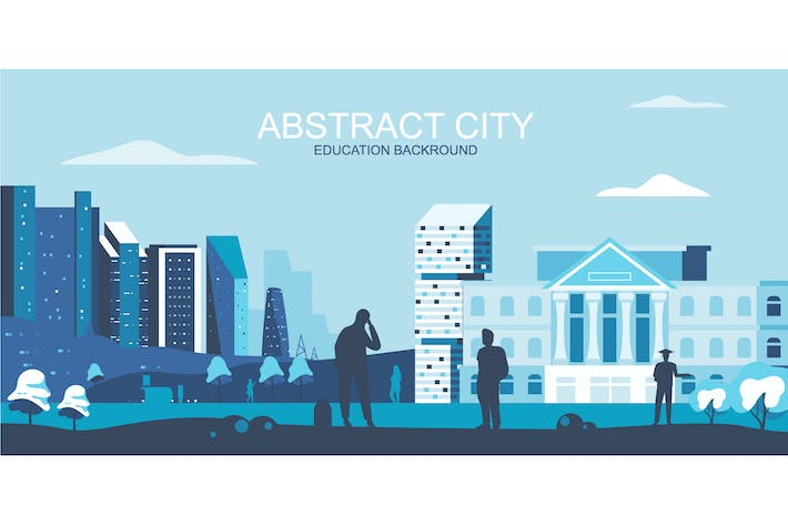 Thumbnail for Education City Vector Illustration Header Website