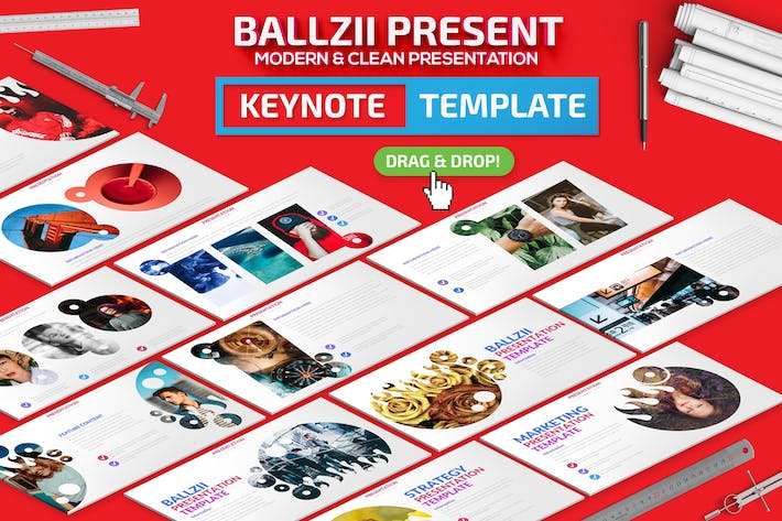 Cover Image For Ballzii Keynote Presentation Template