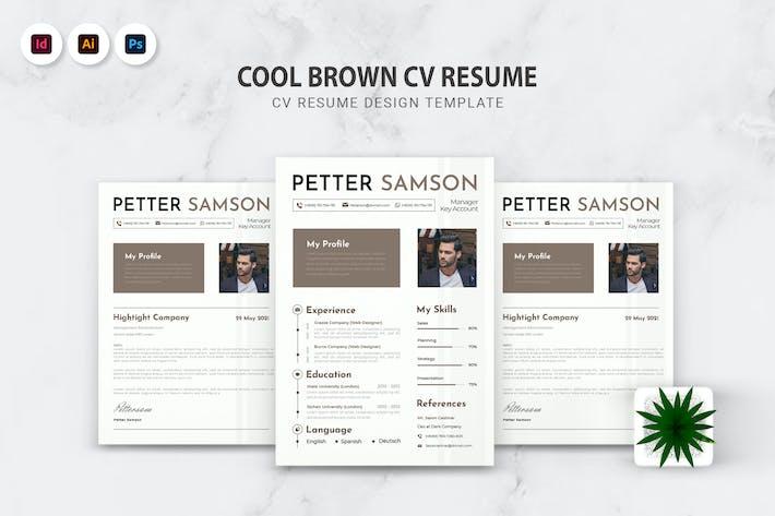 Thumbnail for Cool Brown CV Resume