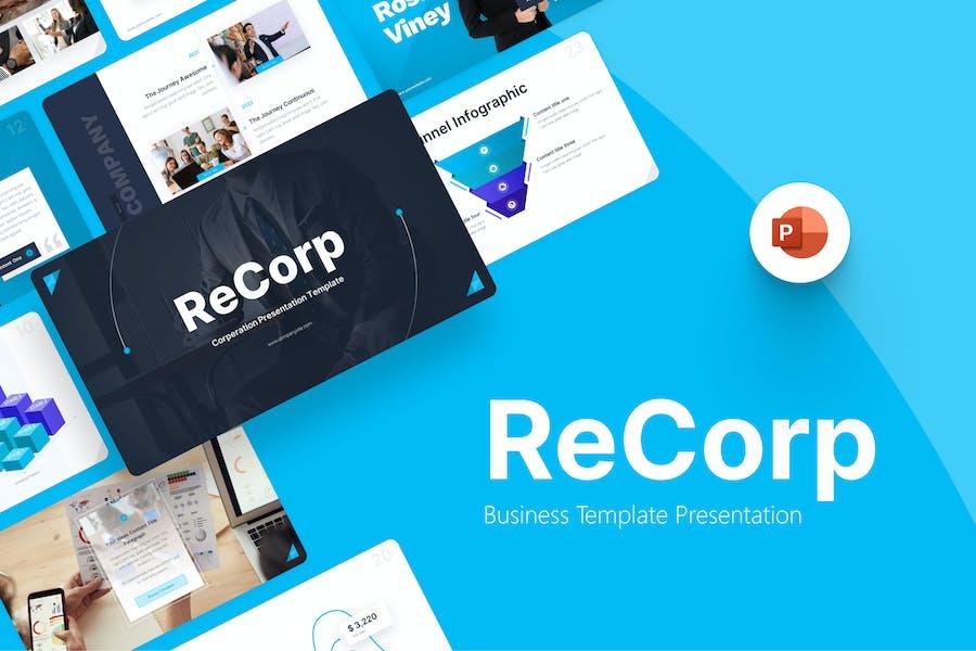 Recorp Business Modern PowerPoint Template