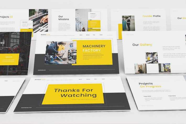 Thumbnail for Factory Google Slides Template