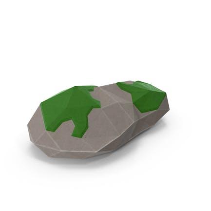 Niedriger Poly Mossy Rock