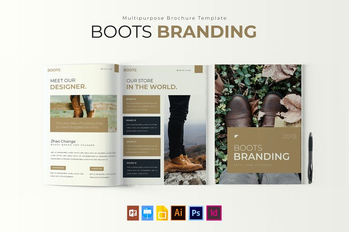 Thumbnail for Boots Brand | Brochure Template