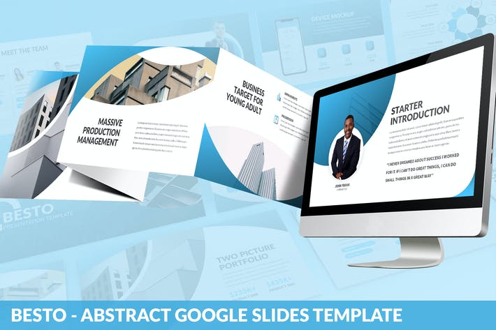 Thumbnail for Besto - Abstract Google Slides Template