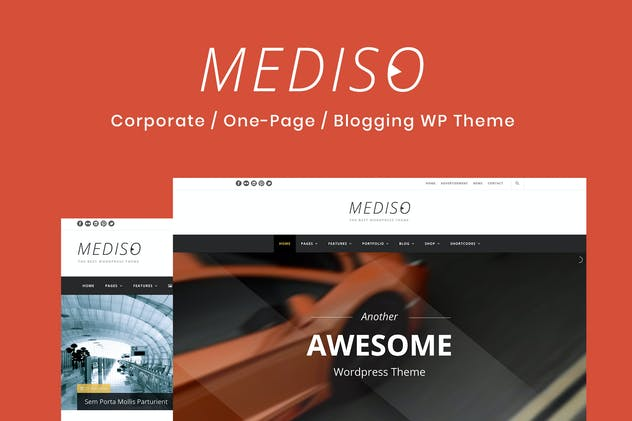 Mediso - Corporate / One-Page  WordPress Theme