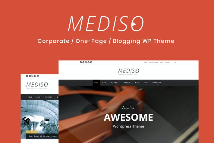 Cover Image For Mediso - Corporate / One-Page  WordPress Theme