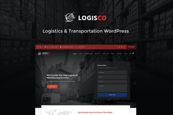 Thumbnail for Logisco - Logistics & Transportation WordPress