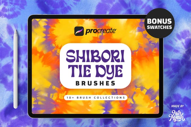 Procreate Shibori Tie Dye