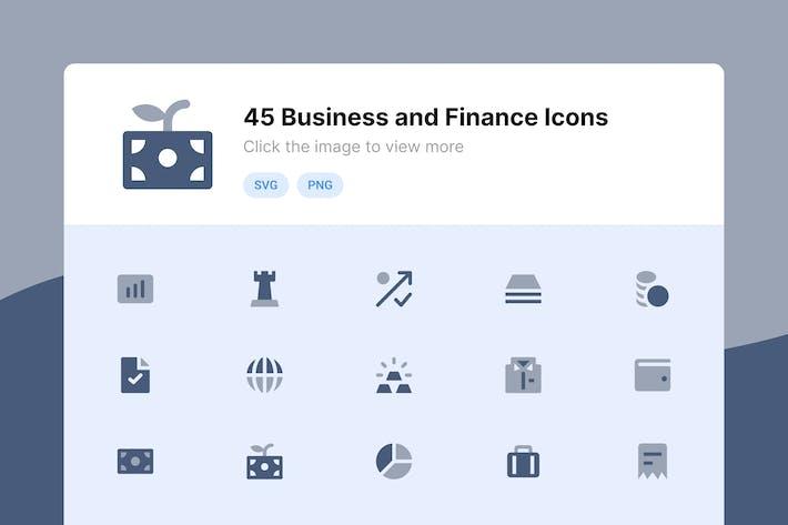 Wirtschaft und Finanzen Duotone Icons
