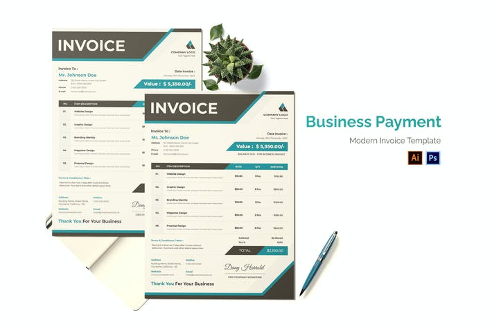 Thumbnail for Business Payment Invoice