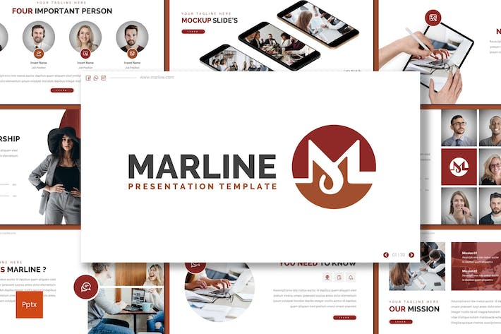 Thumbnail for Marline - Business Powerpoint Template