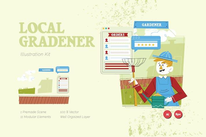 Thumbnail for Local Gardener Graphics Illustration