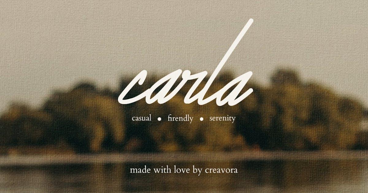 Download Carla -  Signature Script Font by Creavora