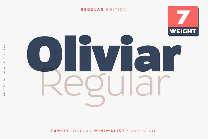 Thumbnail for Oliviar Sans Regular Family