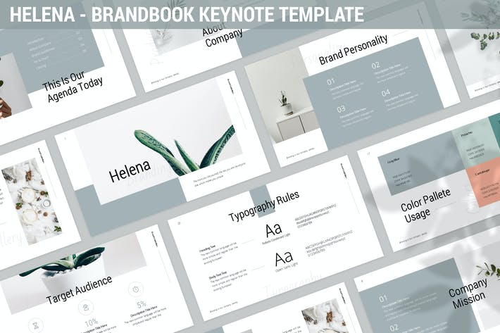 Thumbnail for Helena - Brandbook Keynote Template
