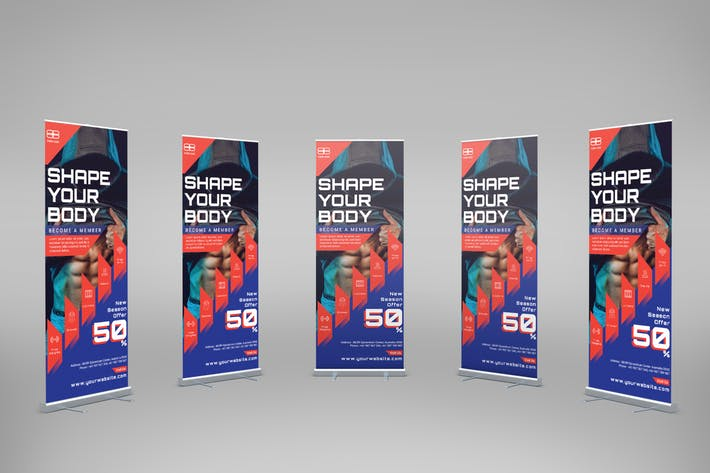 Thumbnail for Fitness Training - Roll-Up Banner