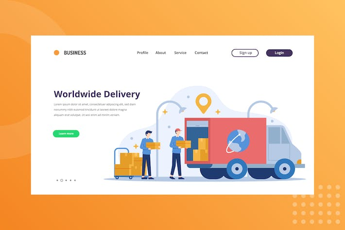 Thumbnail for Worldwide Delivery Landing Page