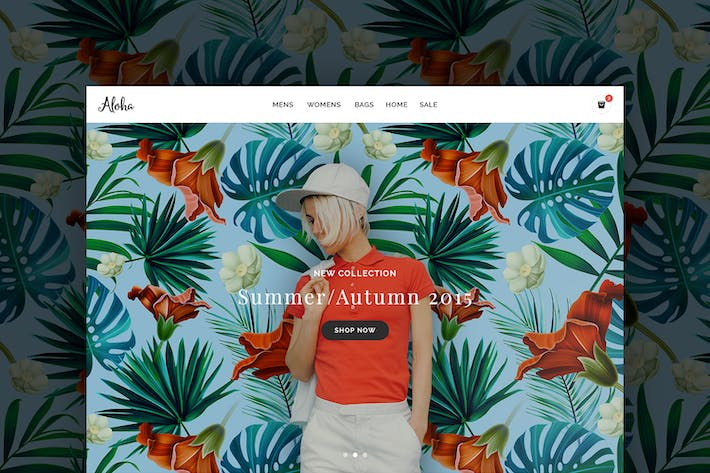 Thumbnail for Aloha Shop Responsive Template