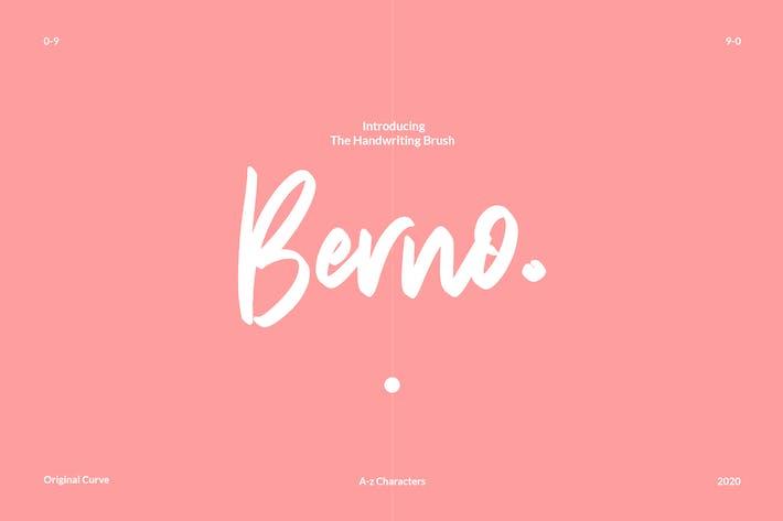 Cover Image For Berno - Le pinceau écrit à la main
