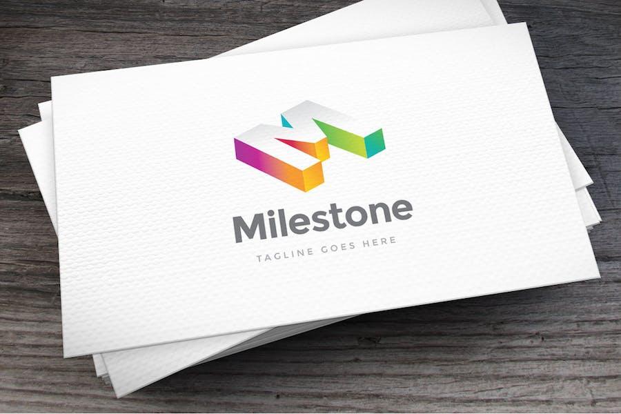 Milestone Letter M Logo Template