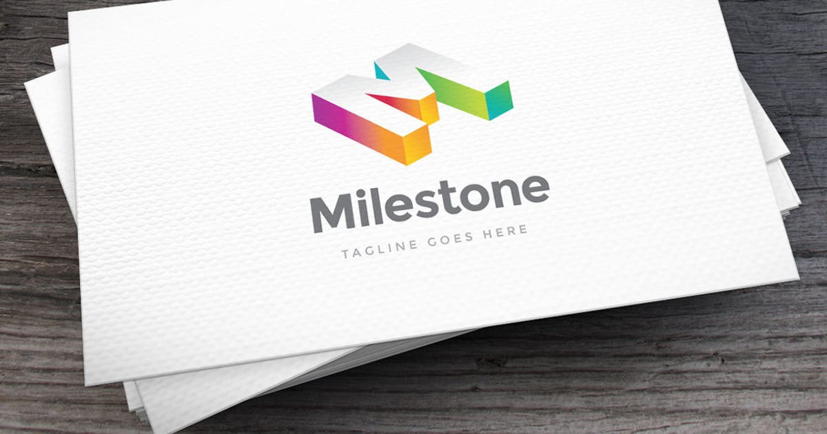 Download Milestone Letter M Logo Template by empativo