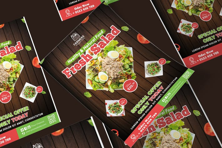 Thumbnail for Food Poster PSD Template