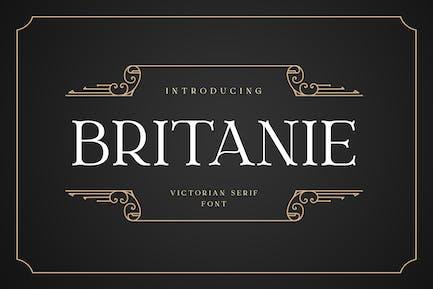 BRITANIE Vectorian Serif Font