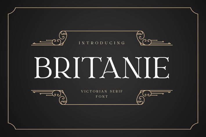 Thumbnail for BRITANIE Vectorian Serif Police