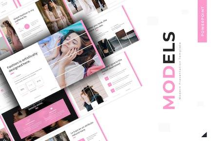 Beautiful Model - Powerpoint Template