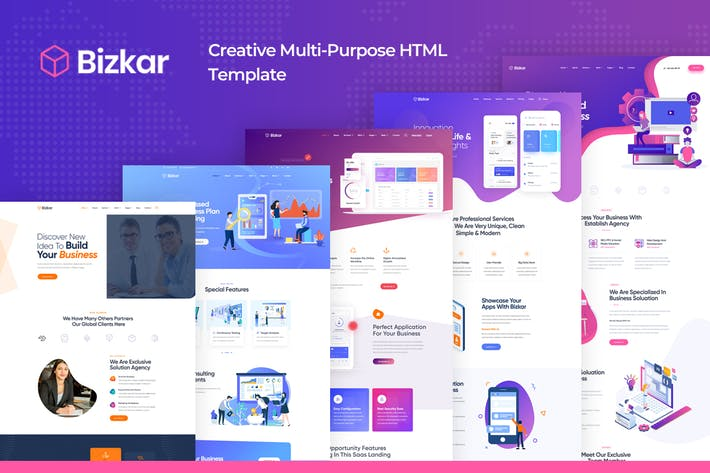 Thumbnail for Bizkar - Creative Multi-Purpose HTML Template