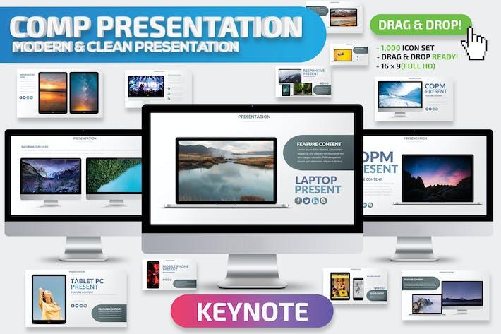 Thumbnail for Comp Mockup Keynote Presentation Template