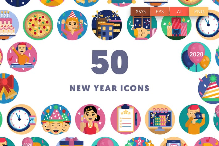 Thumbnail for New year icons