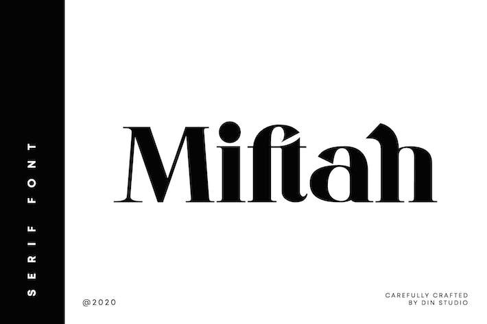 Thumbnail for Miftah-Modern Serif Font