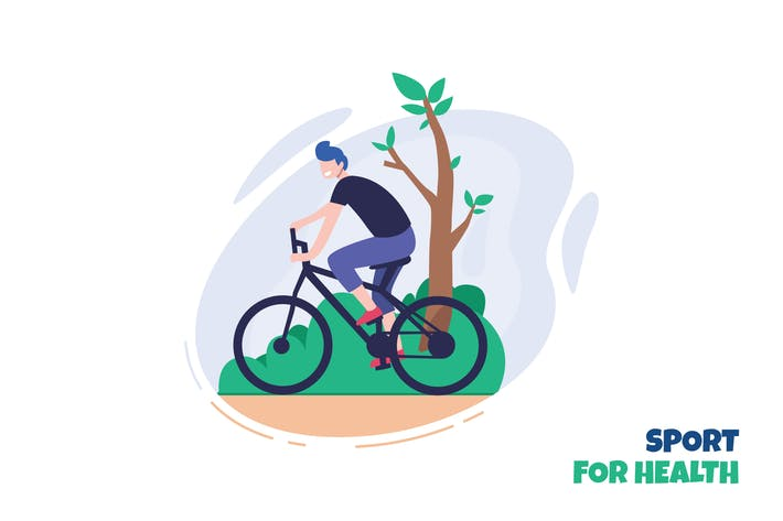Thumbnail for Goes healthy - Ilustration Template