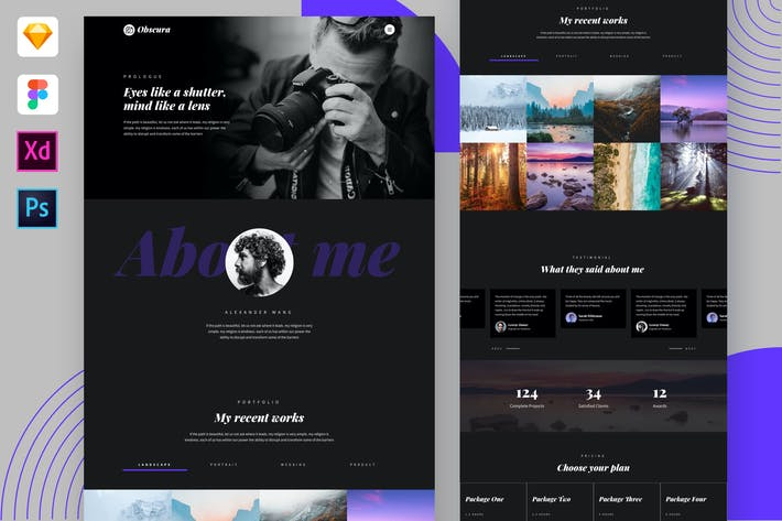 Thumbnail for Obscura - Photography Portfolio Website Template
