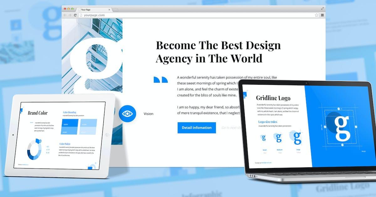 Download Gloria - Brandbook Google Slides Template by SlideFactory