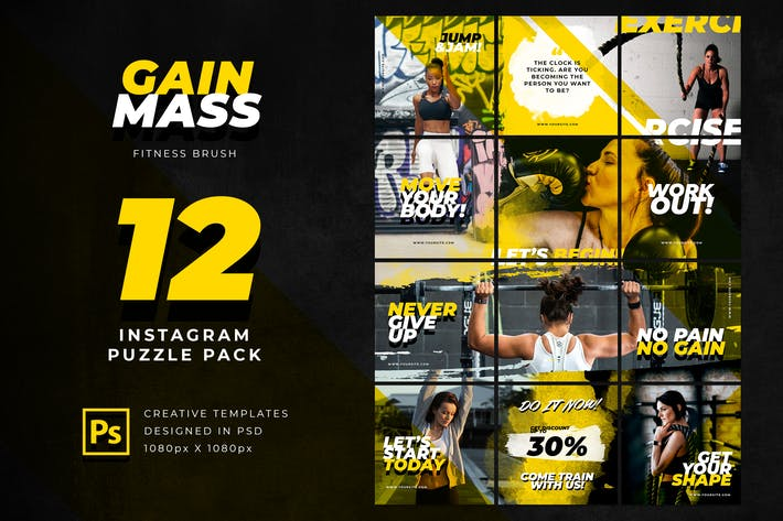 Thumbnail for Instagram Puzzle Fitnesspinsel