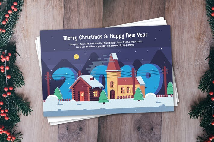 Thumbnail for New Year Greeting Card Template