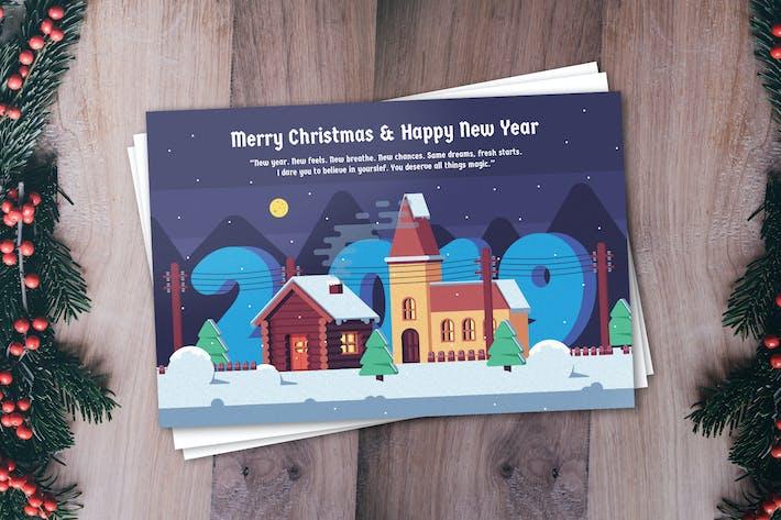 Thumbnail for Modèle de carte de vœux Nouvel An