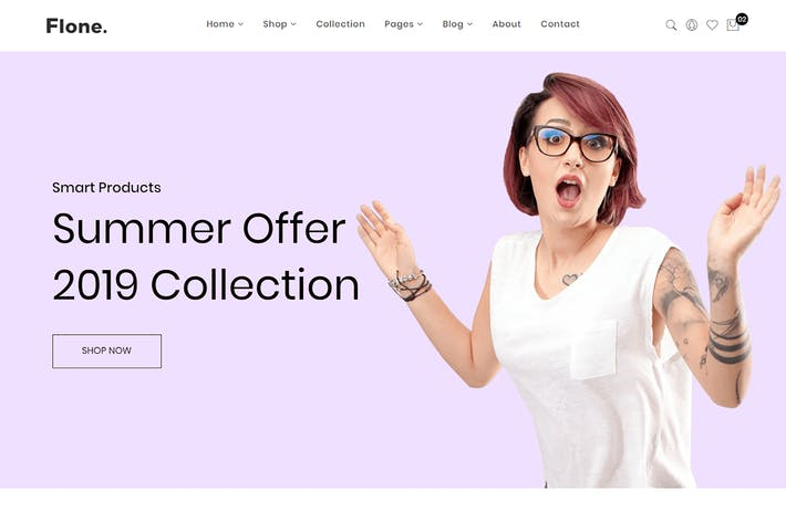 Thumbnail for Flone - Minimalist eCommerce Bootstrap 4 Template