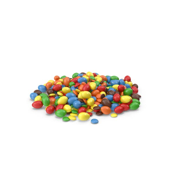 Cover Image for Pile Of Mixed Color Coated Chocolate Candy