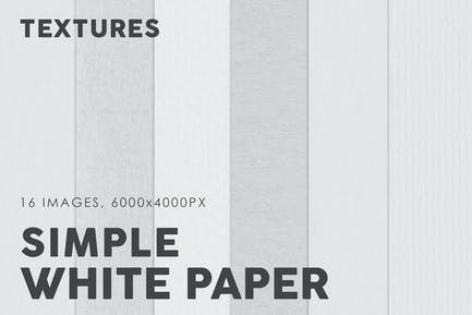 Texturas de papel simples blancas