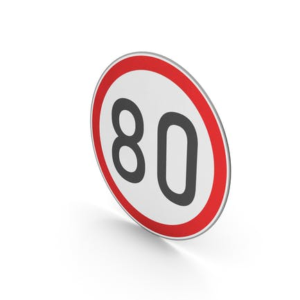 Road Sign Speed Limit 80