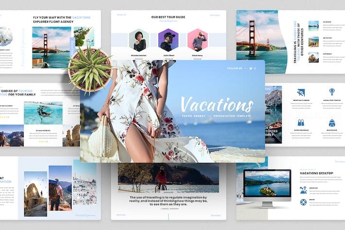Отдыхающие - Туристическое агентство PowerPoint Шаблон