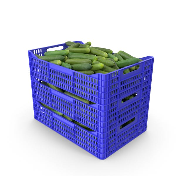 Thumbnail for Plastic Crate of Cucumbers
