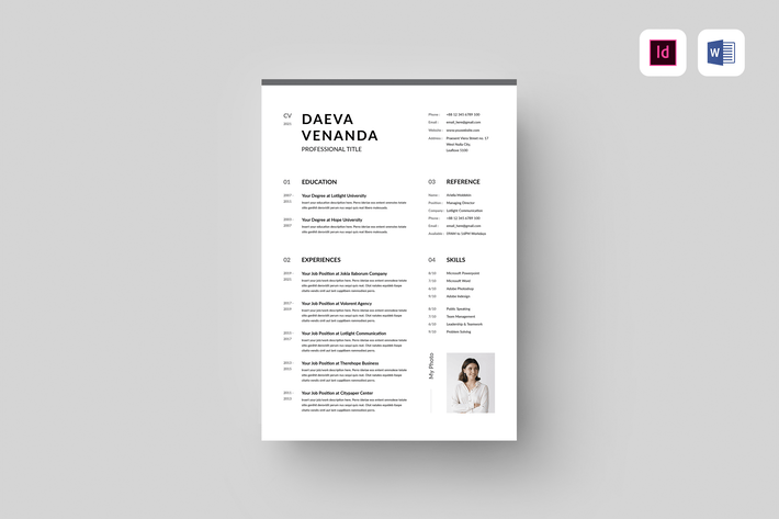 CV | MS Word & Indesign