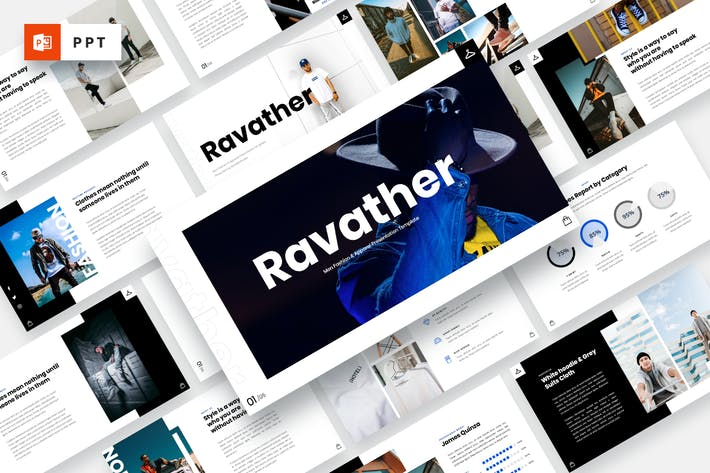Ravather - Men Fashion Powerpoint Template
