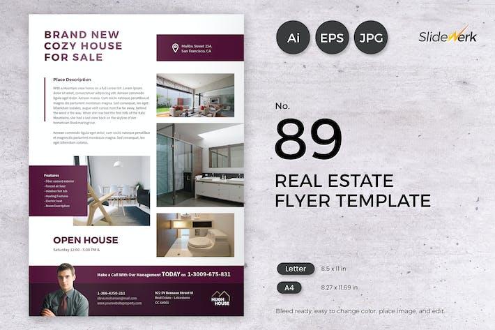 Thumbnail for Real Estate Flyer Template 89 - Slidewerk
